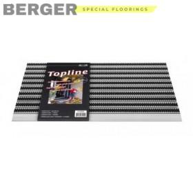 Входной коврик ТопЛайн с текстурной поверхностью на металлическом профиле, фото, доставка, укладка, недорого