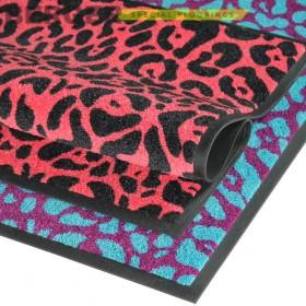 Профи стар Леопард - придверный ковер на резиновой основе