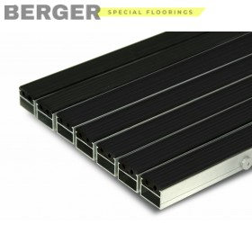 Грязезащитная алюминиевая решетка с резиновыми вставками 20 мм., фото, доставка, укладка, недорого