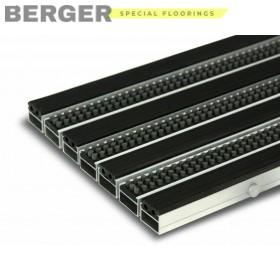 Грязезащитная алюминиевая решетка с резиновыми вставками и щёткой 23 мм., фото, доставка, укладка, недорого