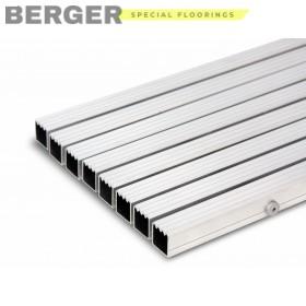 Грязезащитная алюминиевая решетка скребок, высотой 23 мм., фото, доставка, укладка, недорого